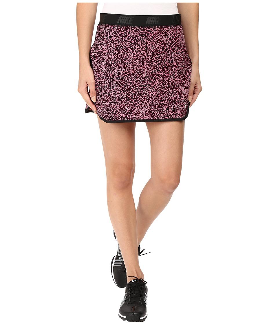 Nike Golf - Flip Skort Print (Dynamic Pink/Black/Metallic Silver) Women's Skort