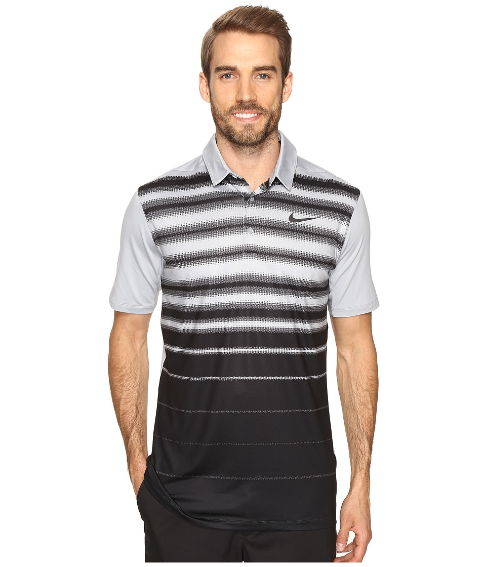 Nike - Mobility Fade Stripe Polo (Wolf Grey/Wolf Grey/Anthracite) Men's Short Sleeve Pullover