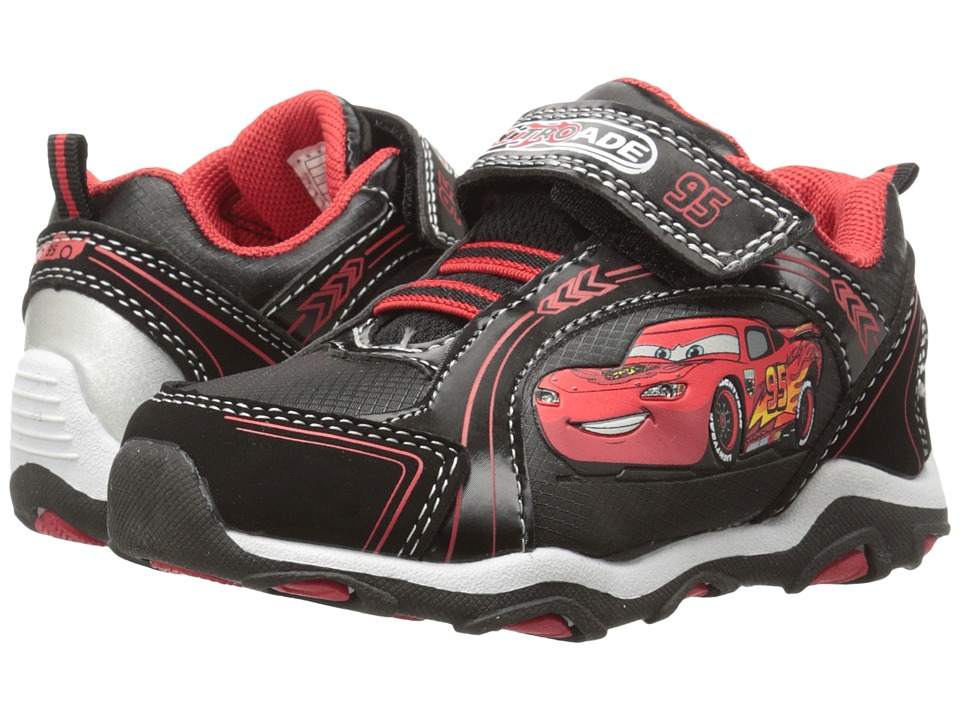 Josmo Kids - Cars Bungee Sneaker (Toddler/Little Kid) (Black/Red) Boys Shoes
