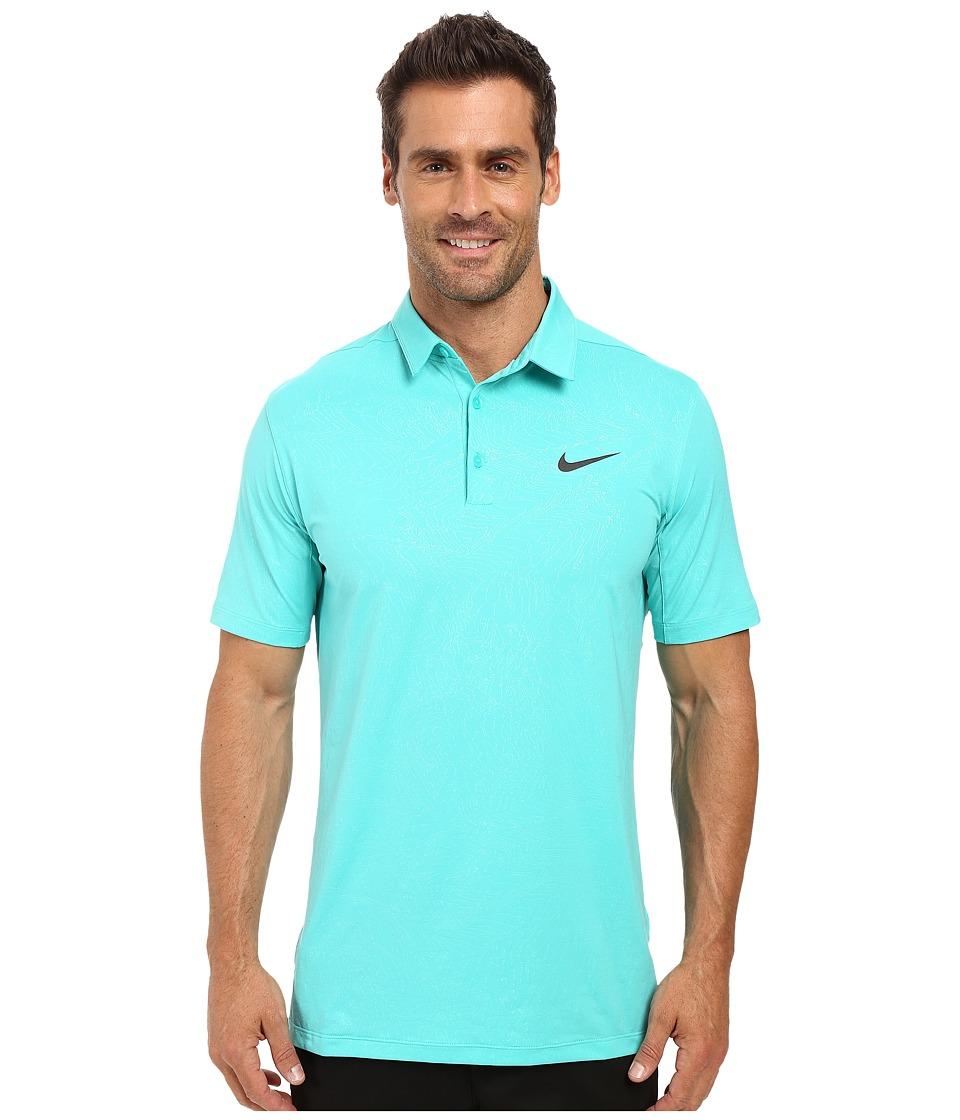 Nike - Mobility Emboss Polo (Hyper Jade/Anthracite) Men's Short Sleeve Pullover