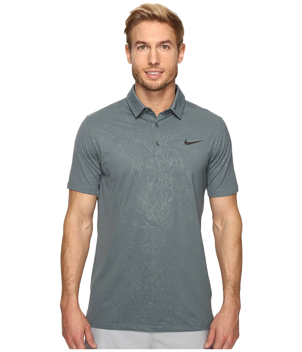 Nike - Mobility Emboss Polo (Hasta/Flat Silver) Men's Short Sleeve Pullover