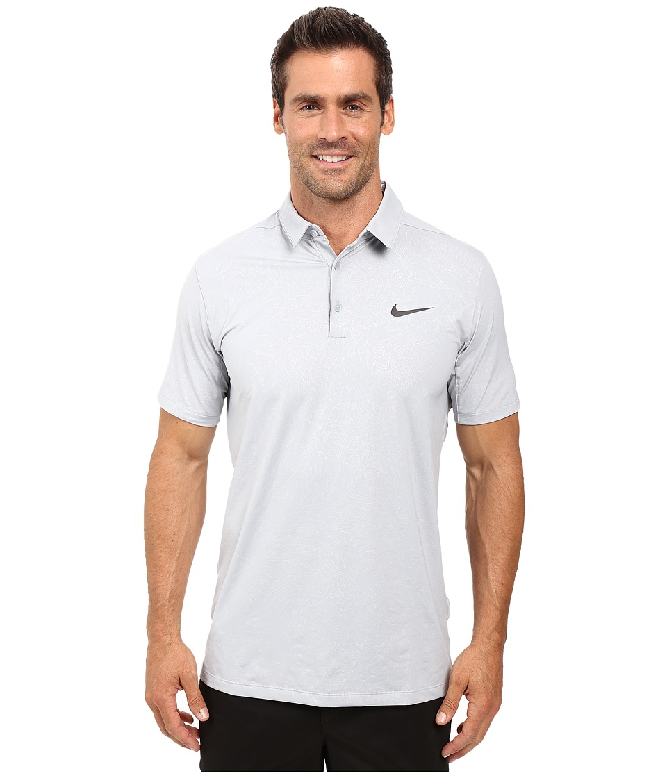 Nike - Mobility Emboss Polo (Wolf Grey/Anthracite) Men's Short Sleeve Pullover