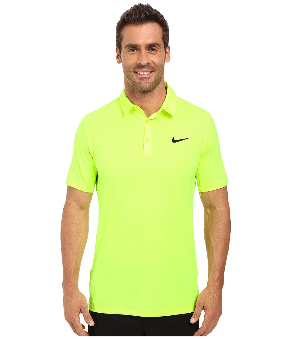 Nike - Mobility Emboss Polo (Volt/Flat Silver) Men's Short Sleeve Pullover