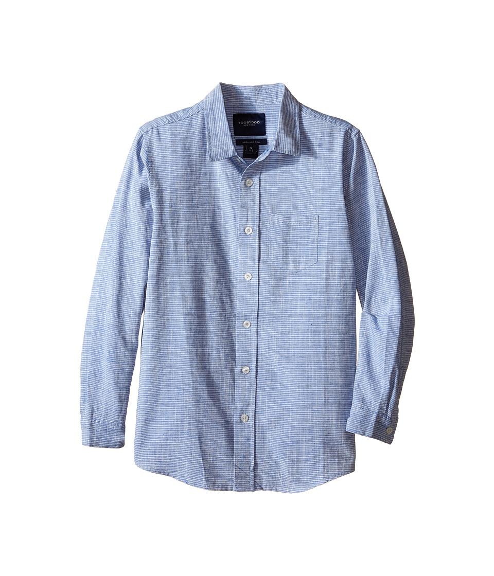 Toobydoo - Long Sleeve Dress Shirt (Toddler/Little Kids/Big Kids) (Blue) Boy's Long Sleeve Button Up
