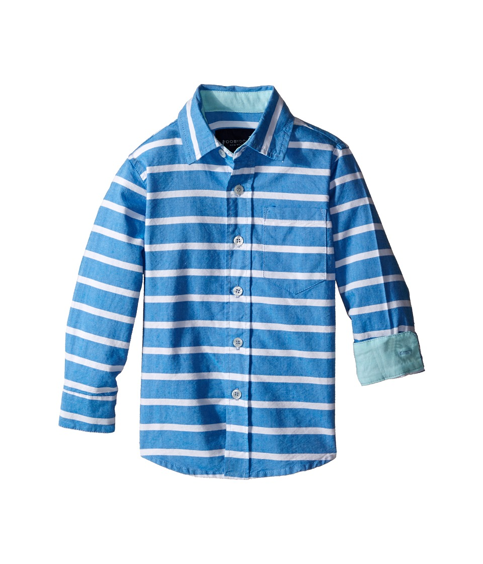 Toobydoo - Long Sleeve Dress Shirt (Toddler/Little Kids/Big Kids) (Blue/White Stripe) Boy's Long Sleeve Button Up
