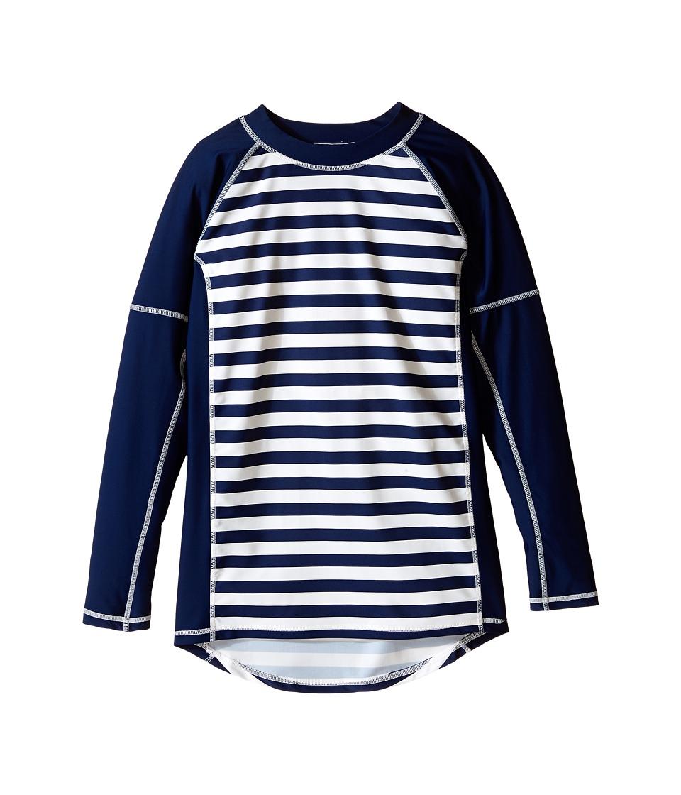 Toobydoo - Navy/White Stripe Long Sleeve Rashguard (Infant/Toddler/Little Kids/Big Kids) (Navy/White) Boy's Swimwear