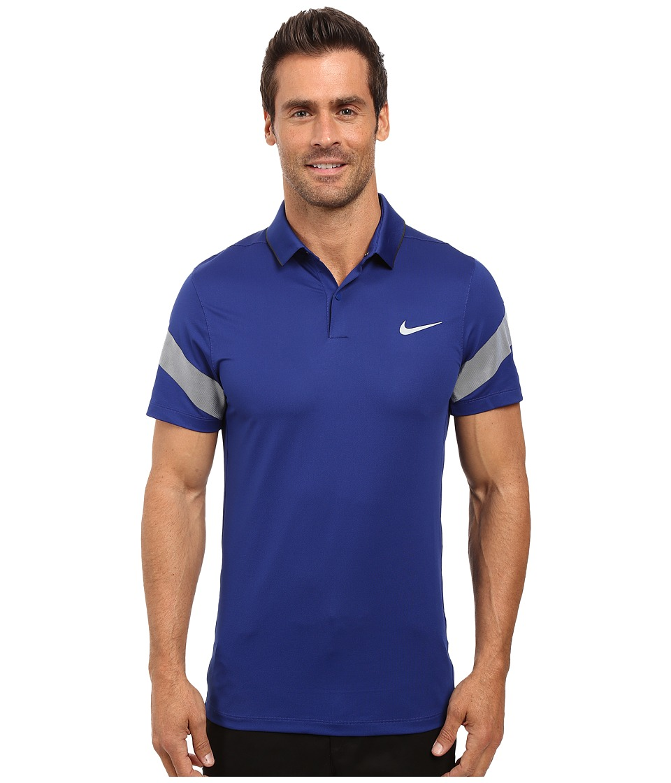 Nike Golf - Momentum Framing Commander (Deep Royal Blue/Anthracite/Reflective Silver) Men's Short Sleeve Pullover