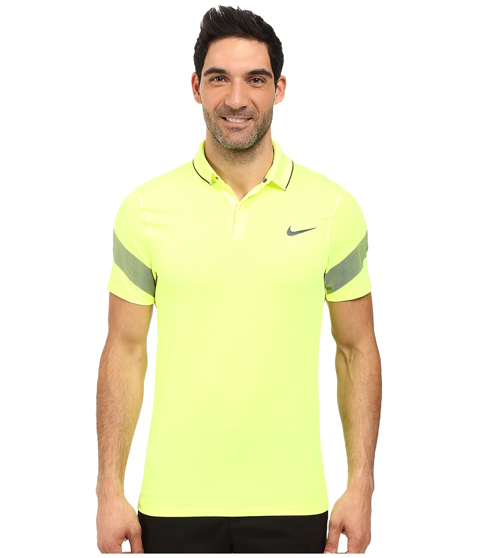 Nike Golf - Momentum Framing Commander (Volt/Anthracite/Reflect Black) Men's Short Sleeve Pullover