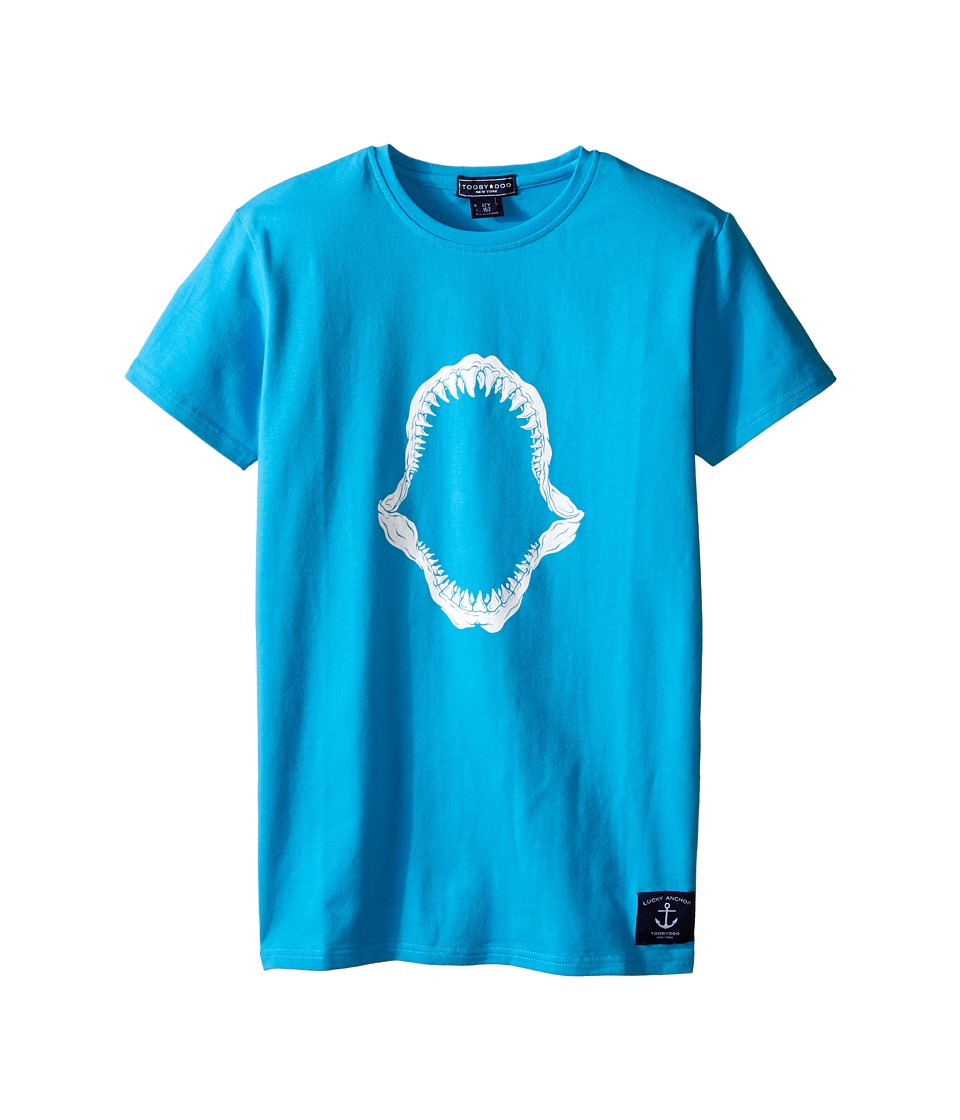 Toobydoo - Short Sleeve Graphic T-Shirt (Infant/Toddler/Little Kids/Big Kids) (Aqua/Shark Mouth Graphic) Boy's T Shirt