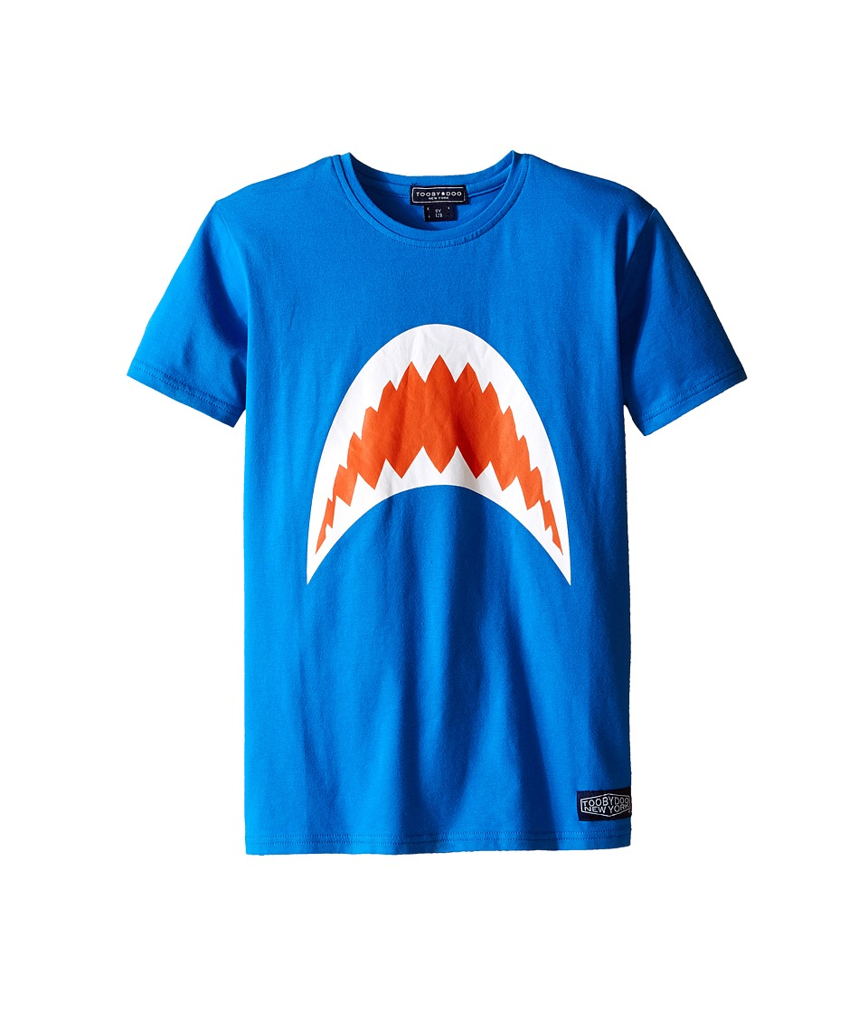 Toobydoo - Short Sleeve Graphic T-Shirt (Infant/Toddler/Little Kids/Big Kids) (Blue/Shark Mouth) Boy's T Shirt