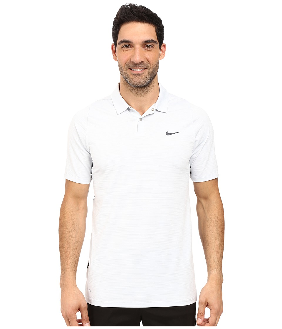 Nike Golf - Tiger Woods Vl Max Swing Knit Heather (White/Pure Platinum/Reflect Black) Men's Short Sleeve Pullover