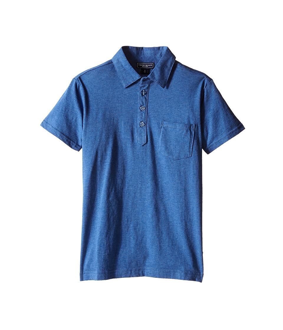 Toobydoo - Short Sleeve Polo (Toddler/Little Kids/Big Kids) (Navy) Boy's Short Sleeve Pullover