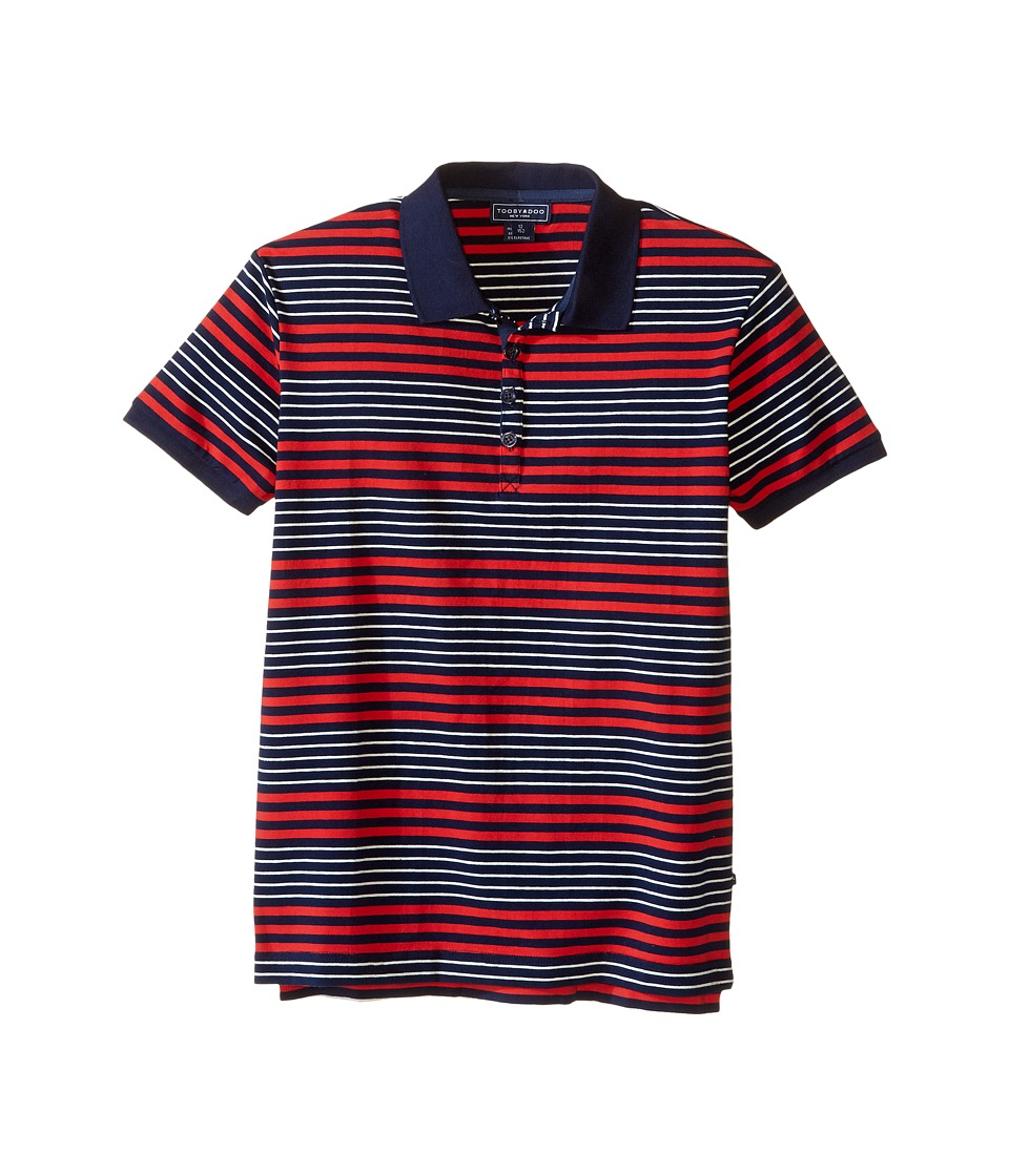 Toobydoo - Short Sleeve Polo (Toddler/Little Kids/Big Kids) (Red/Navy/White) Boy's Short Sleeve Pullover