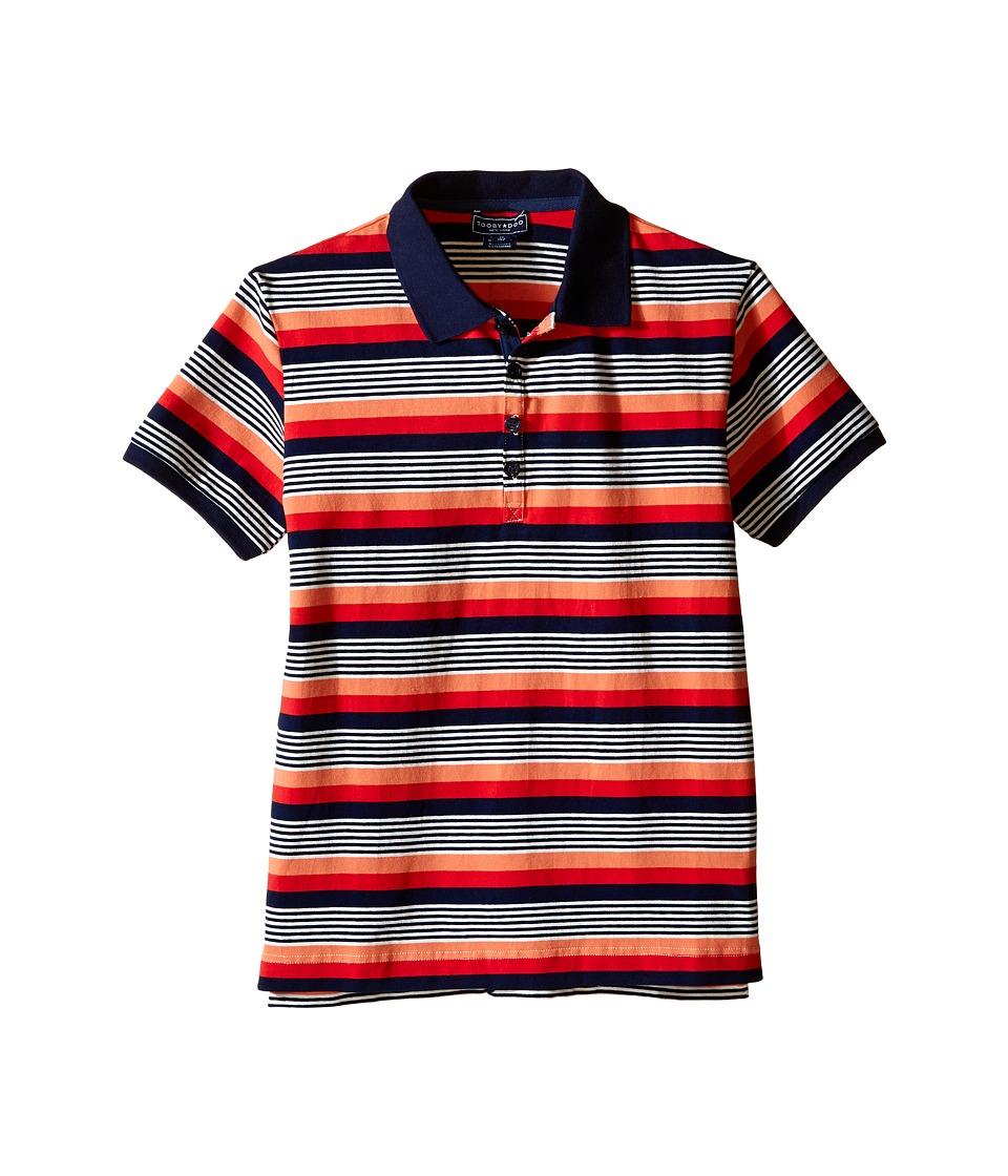 Toobydoo - Short Sleeve Polo (Toddler/Little Kids/Big Kids) (Navy/Orange/White/Red) Boy's Short Sleeve Pullover