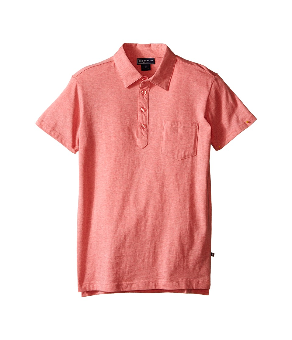 Toobydoo - Short Sleeve Polo (Infant/Toddler/Little Kids/Big Kids) (Red) Boy's Short Sleeve Knit