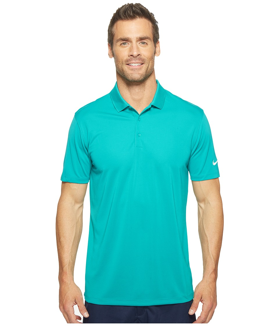 Nike - Victory Solid Polo (Teal Charge/White) Men's Short Sleeve Pullover