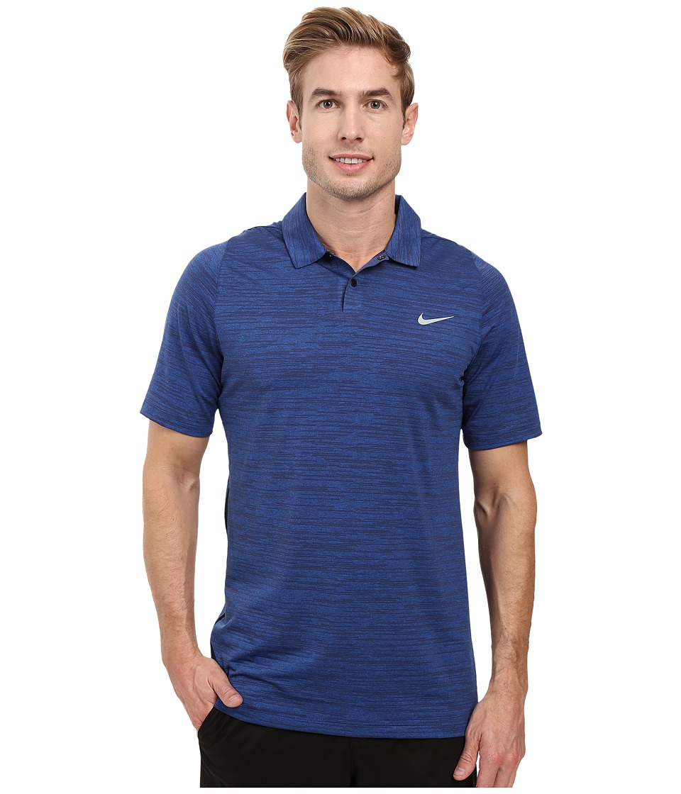 Nike Golf - Tiger Woods Vl Max Swing Knit Heather (Game Royal/Midnight Navy/Reflective Silver) Men's Short Sleeve Pullover