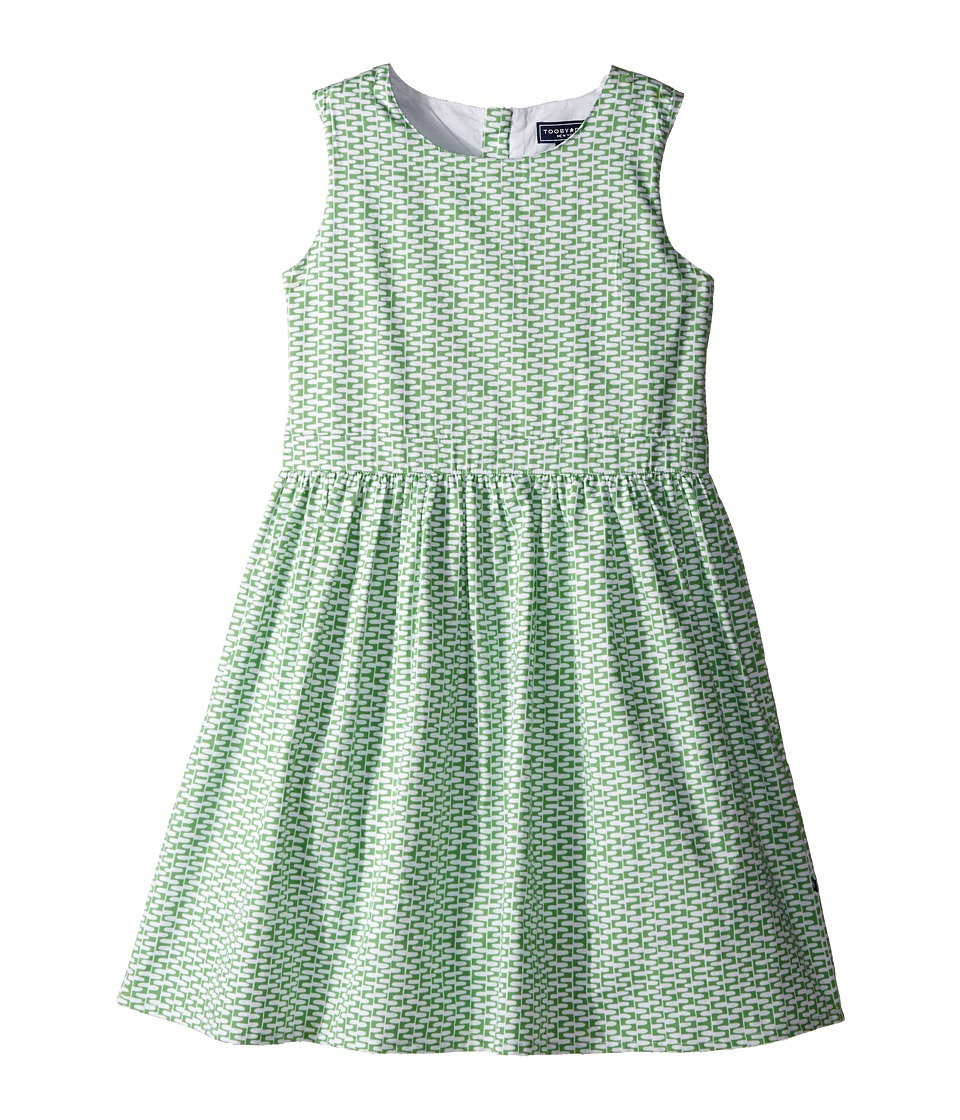 Toobydoo - Garden Party Tank Dress (Toddler/Little Kids/Big Kids) (Green/White) Girl's Dress