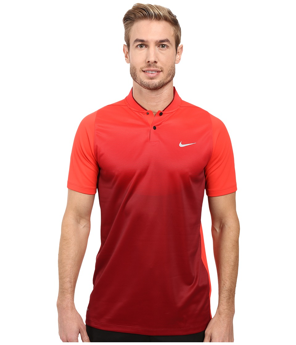 Nike - Tiger Woods Vl Max Sphere Print Polo (Light Crimson/Team Red/Reflective Silver) Men's Short Sleeve Pullover
