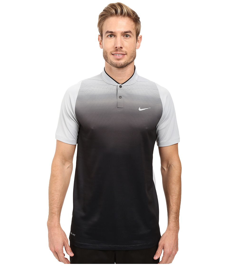 Nike - Tiger Woods Vl Max Sphere Print Polo (Wolf Grey/Black/Reflective Silver) Men's Short Sleeve Pullover