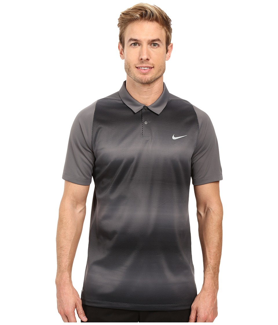 Nike Golf - Tiger Woods Vl Max Sphere Stripe Polo (Dark Grey/Black/Reflective Silver) Men's Short Sleeve Pullover
