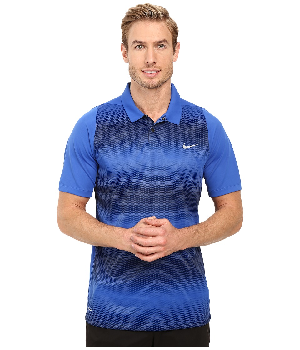Nike Golf - Tiger Woods Vl Max Sphere Stripe Polo (Game Royal/Midnight Navy/Reflective Silver) Men's Short Sleeve Pullover