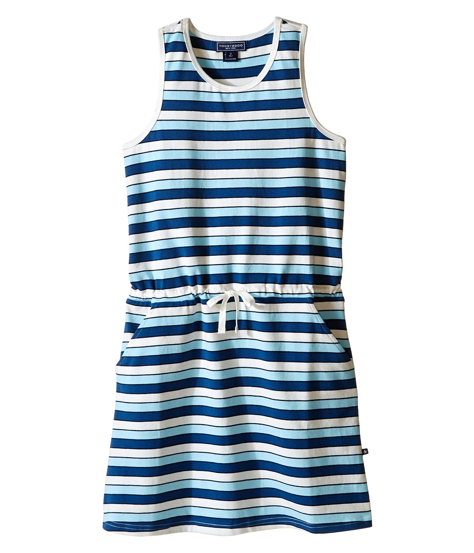 Toobydoo - Tank Beach Dress (Toddler/Little Kids/Big Kids) (Navy/White/Blue) Girl's Dress
