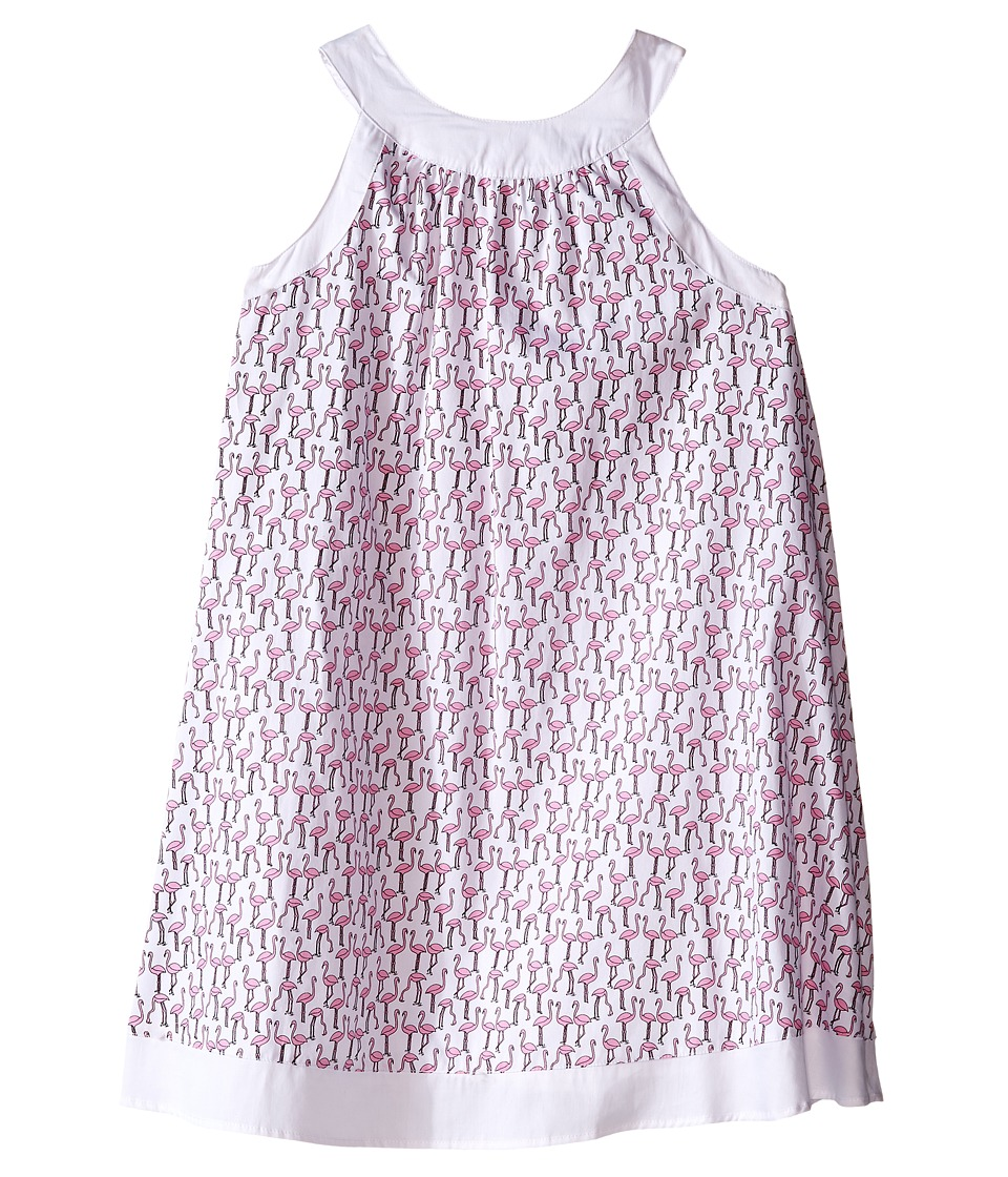 Toobydoo - Piazza Tank Dress (Toddler/Little Kids/Big Kids) (Pink Flamingo/White) Girl's Dress