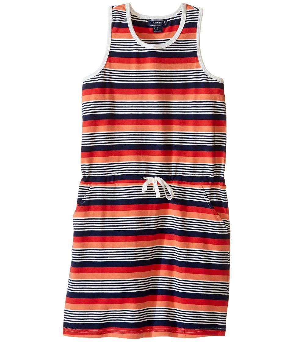 Toobydoo - Tank Beach Dress (Toddler/Little Kids/Big Kids) (Navy/Orange/White/Red) Girl's Dress