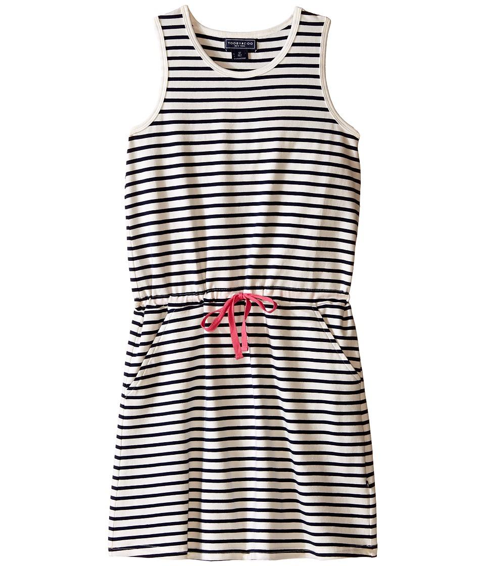 Toobydoo - Tank Beach Dress (Toddler/Little Kids/Big Kids) (Navy/White/Pink) Girl's Dress