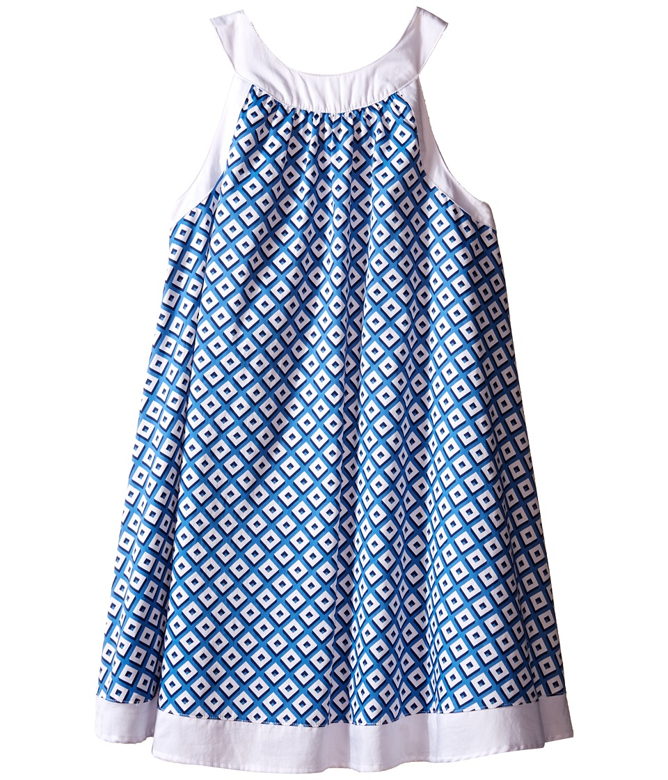 Toobydoo - Piazza Tank Dress (Toddler/Little Kids/Big Kids) (Blue/White) Girl's Dress