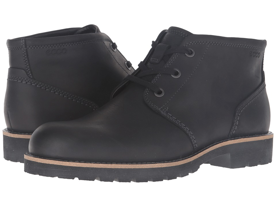 ECCO - Jamestown Mid (Black) Men's Shoes