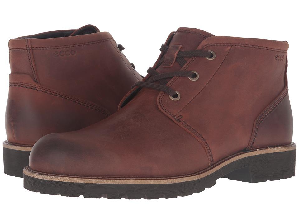 ECCO - Jamestown Mid (Cognac) Men's Shoes