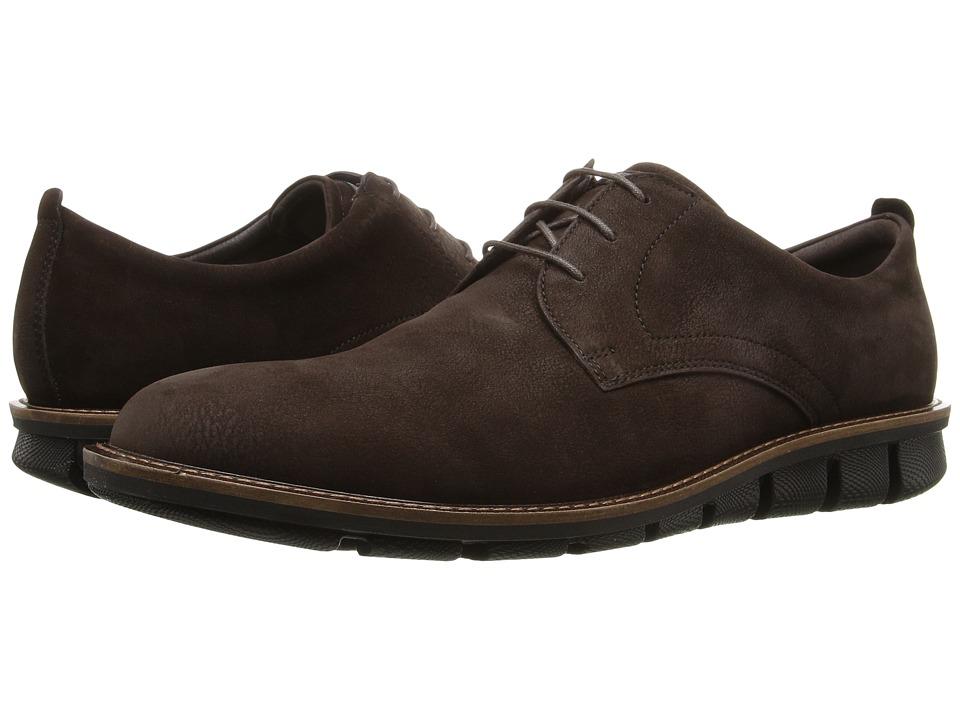 ECCO - Jeremy Hybrid Tie (Espresso) Men's Shoes