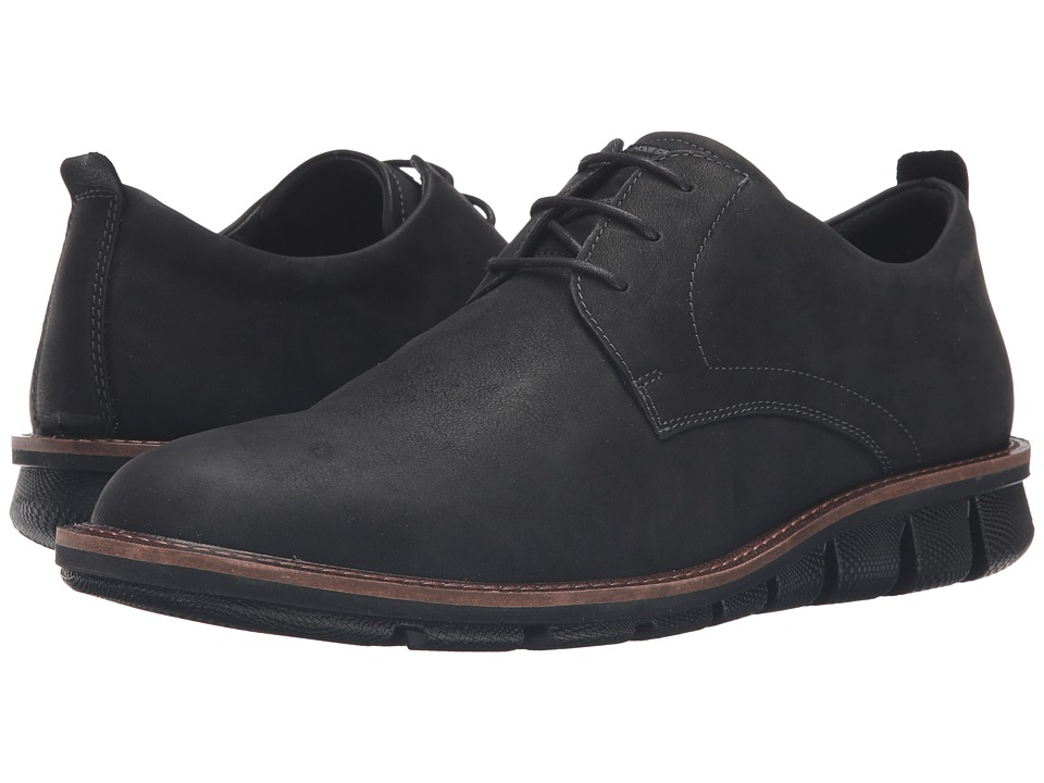 ECCO - Jeremy Hybrid Tie (Black) Men's Shoes