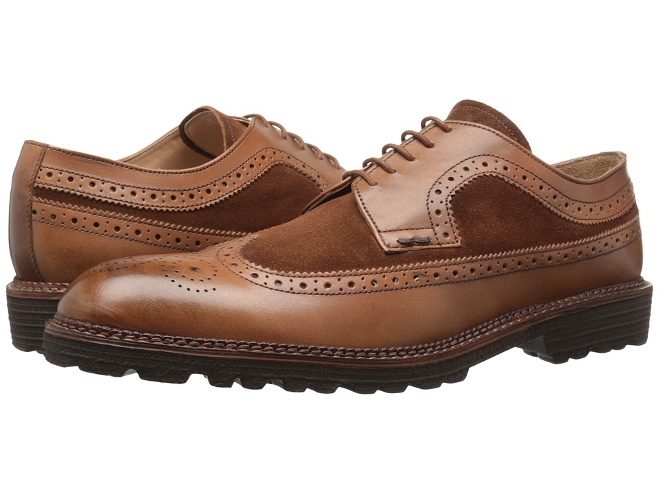 Kenneth Cole New York - Hotel Lobby (Cognac) Men's Lace Up Wing Tip Shoes