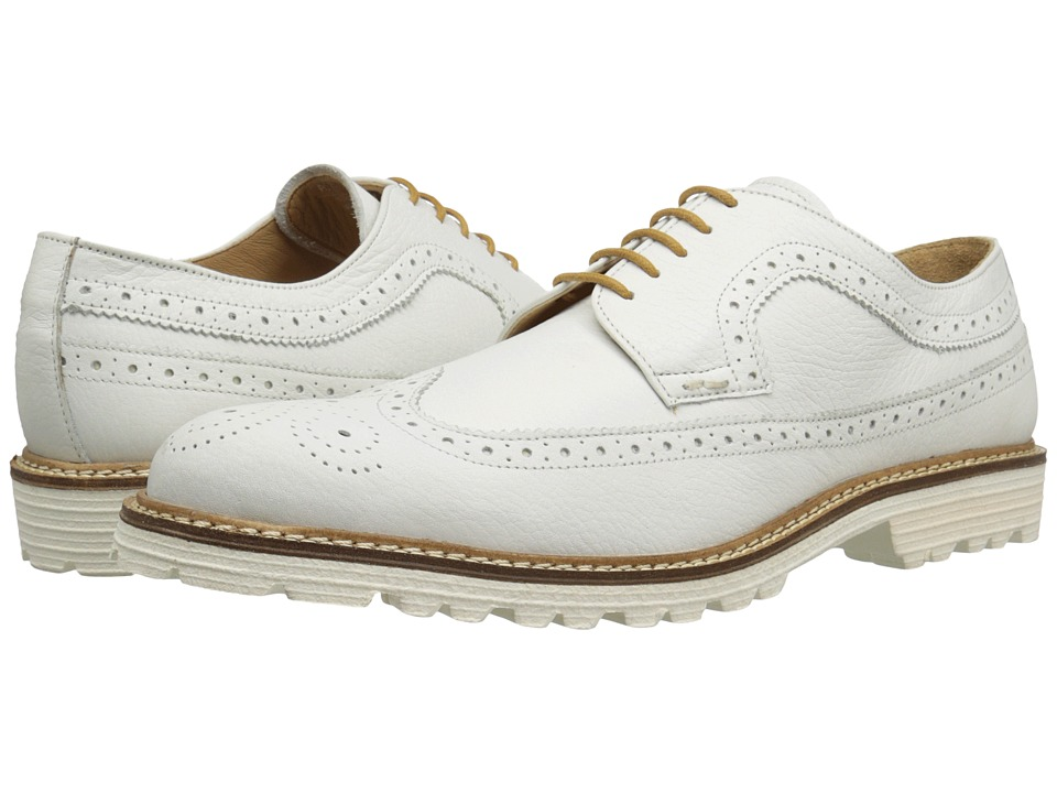 Kenneth Cole New York - Hotel Lobby (White) Men's Lace Up Wing Tip Shoes