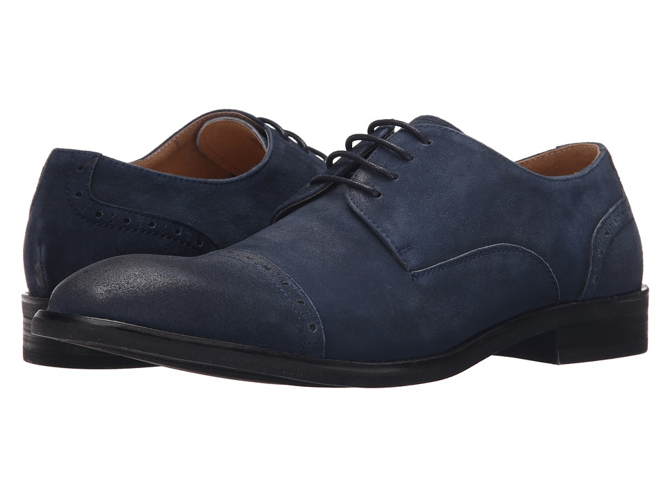 Kenneth Cole New York - System-Atic (Navy) Men's Lace Up Cap Toe Shoes