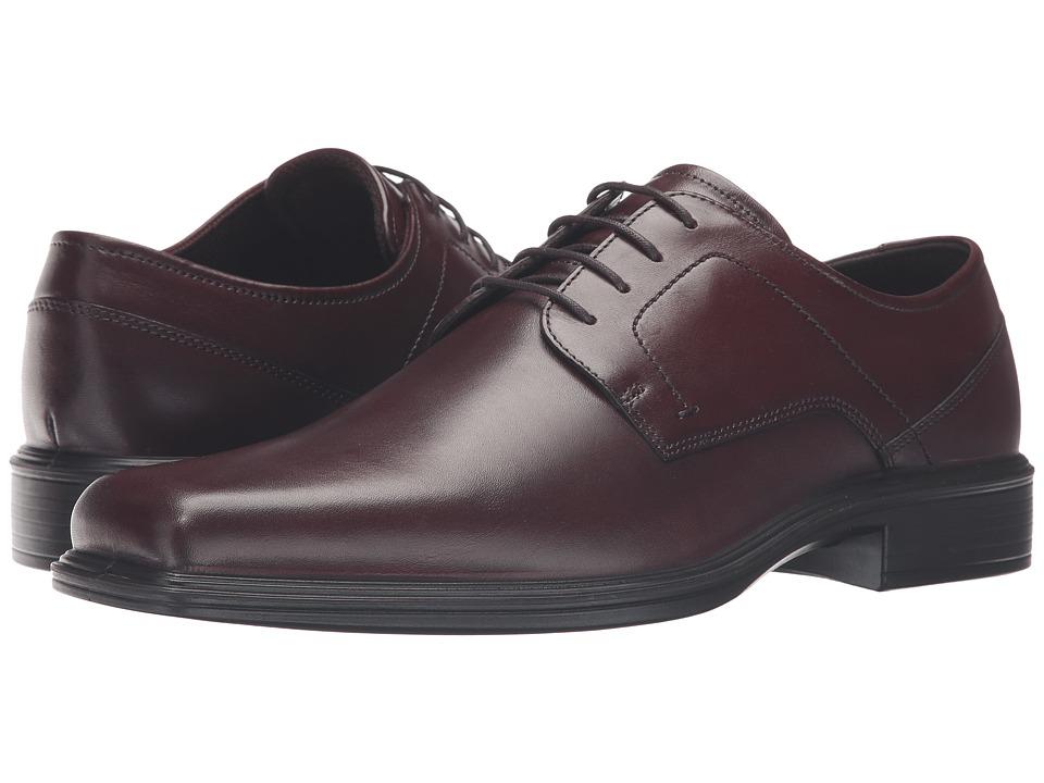 ECCO - Johannesburg Plain Tie (Rust) Men's Shoes
