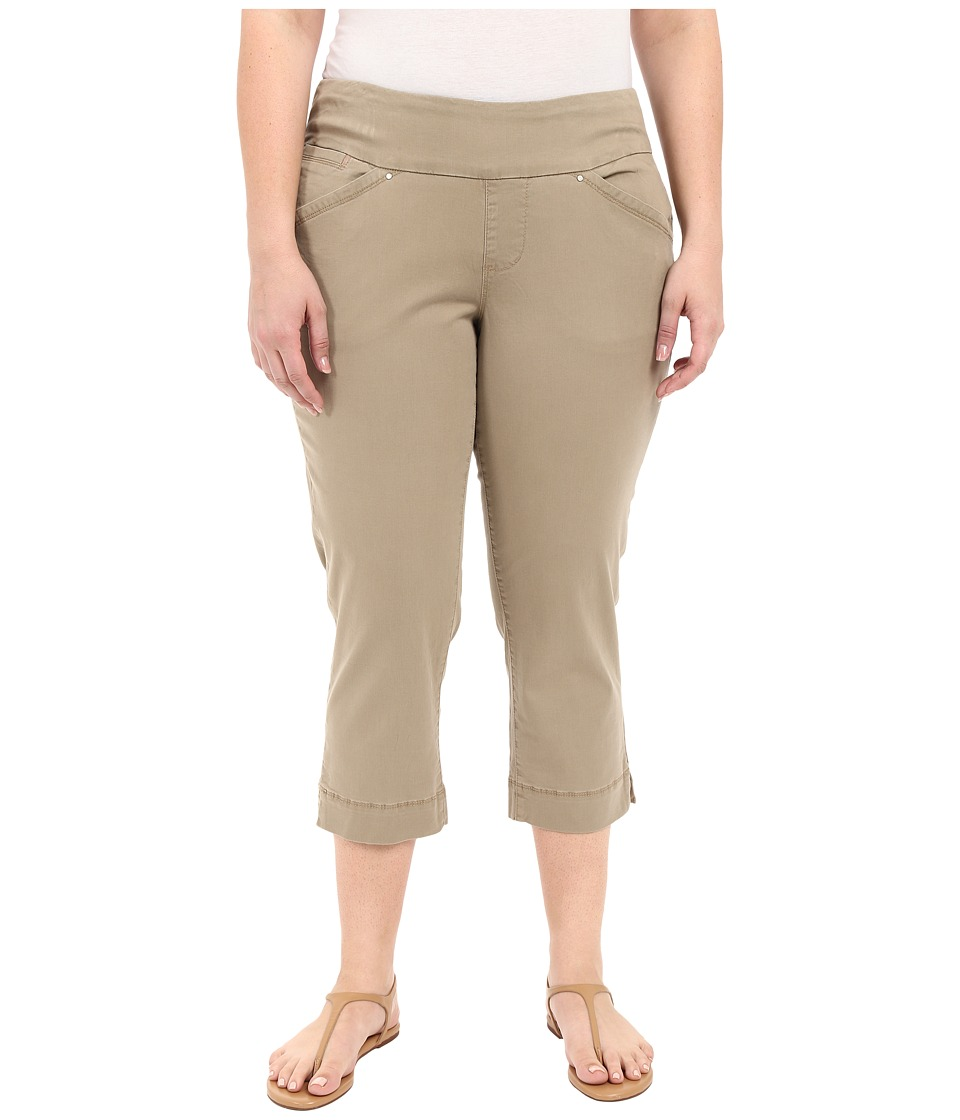 Jag Jeans Plus Size - Plus Size Marion Crop in Bay Twill (Hazelnut) Women's Casual Pants plus size,  plus size fashion plus size appare