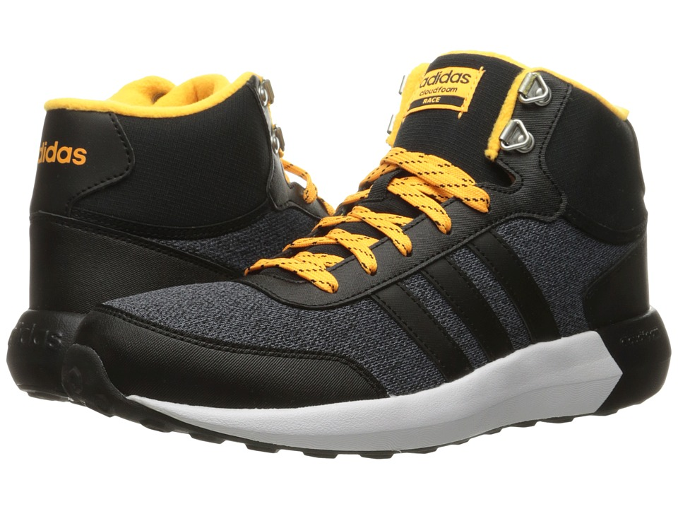 adidas - Cloudfoam Race Winter Mid (Black/Solar Gold) Men's Shoes