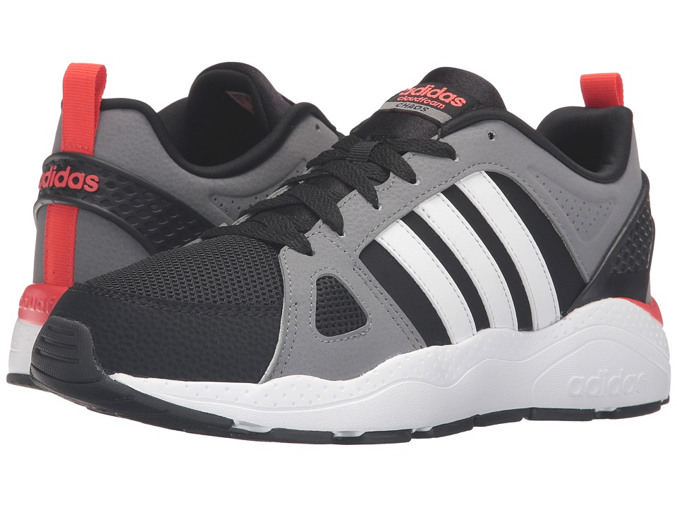 adidas - Cloudfoam Chaos (Black/White/Bright Red) Men's Shoes