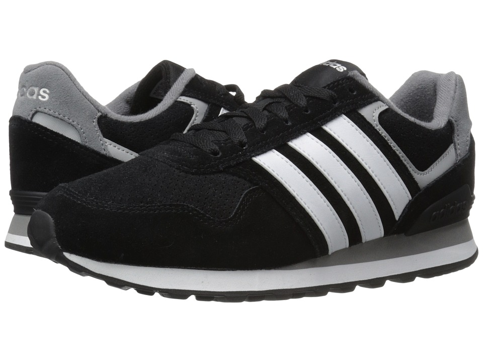 adidas - Runeo 10K (Black/White/Matte Silver) Men's Shoes