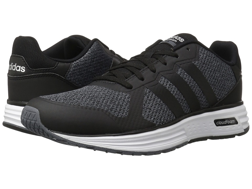 adidas - Cloudfoam Flyer (Onix/Black/Matte Silver) Men's Shoes