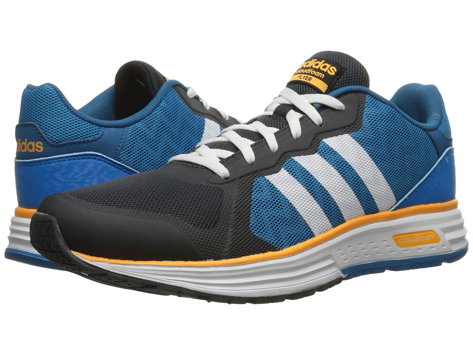 adidas - Cloudfoam Flyer (Night Grey/White/Solar Blue2) Men's Shoes