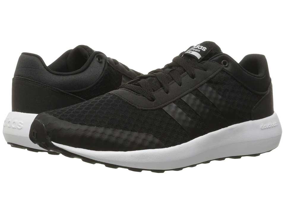 adidas - Cloudfoam Race (Black/White) Men's Shoes