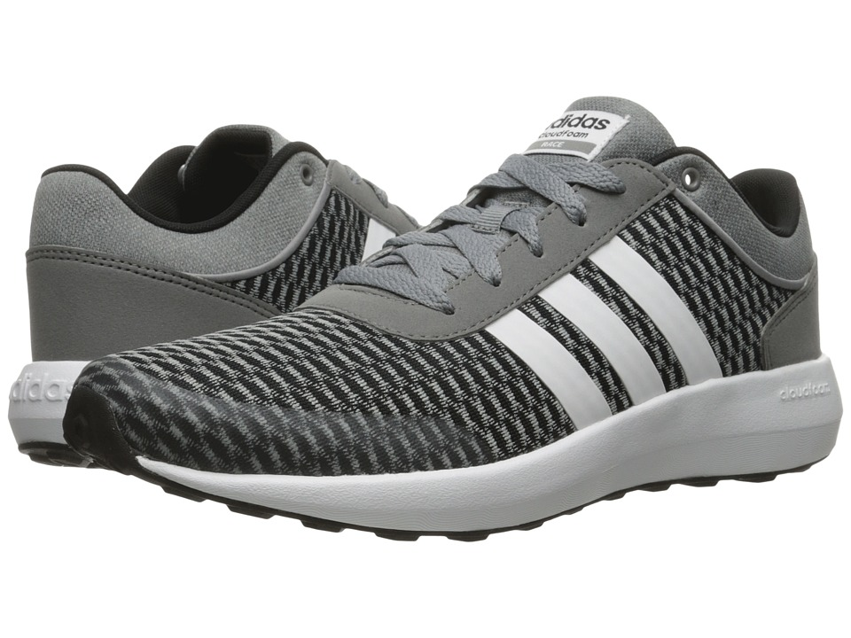 adidas - Cloudfoam Race (Black/White/Grey) Men's Shoes