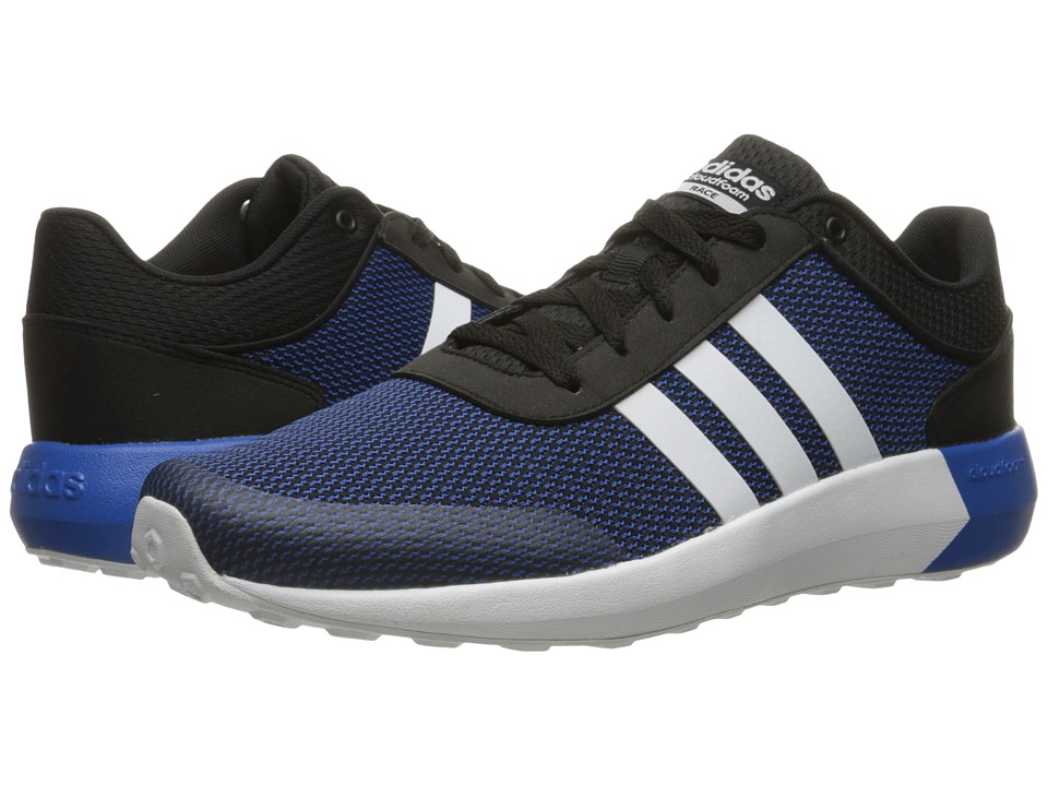 adidas - Cloudfoam Race (Black/White/Blue) Men's Shoes
