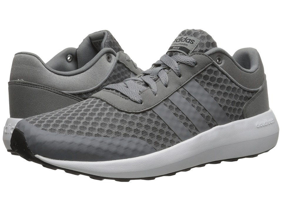 adidas - Cloudfoam Race (Grey/Black) Men's Shoes