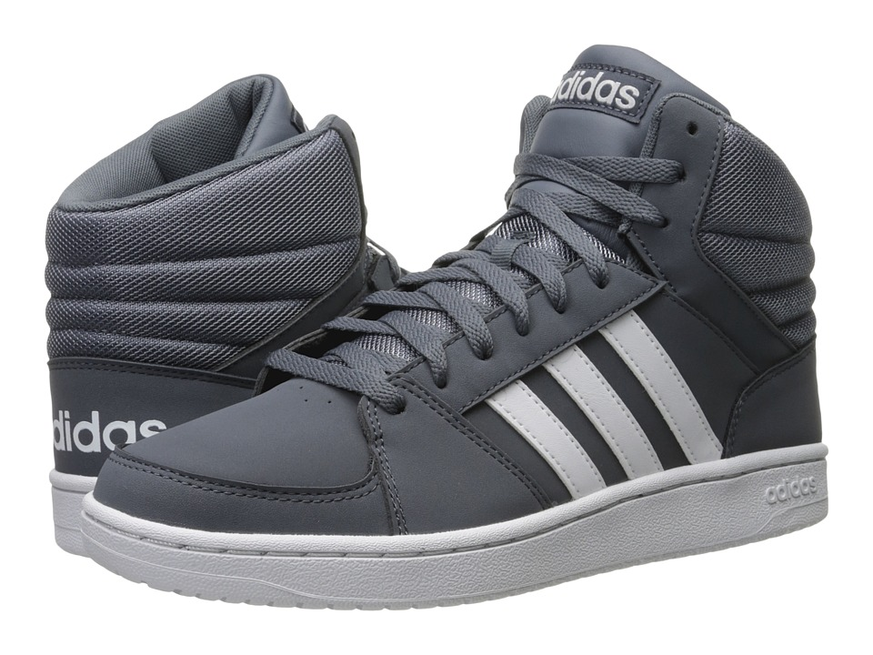 adidas - Hoops VS Mid (Onix/White/White) Men's Shoes